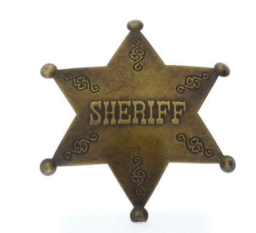 Embossed Sheriff Old Western Replica Pin Back