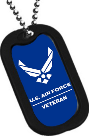 dog tag key chain necklace engrave able military us air force