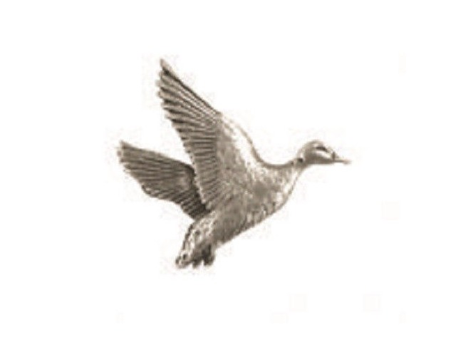 A.E. Williams Fine Brittish Pewter Lapel Hat Pin Rising Mallard #35010