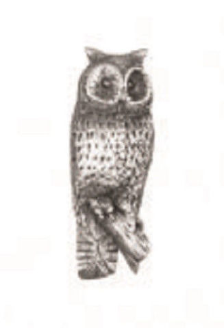 A.E. Williams Fine Brittish Pewter Lapel Hat Pin Owl Bird #35030