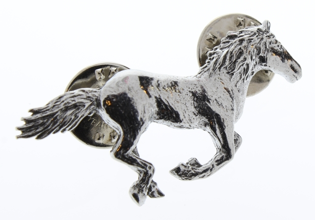 A.E. Williams Fine Brittish Pewter Lapel Hat Pin Running Horse  #35260