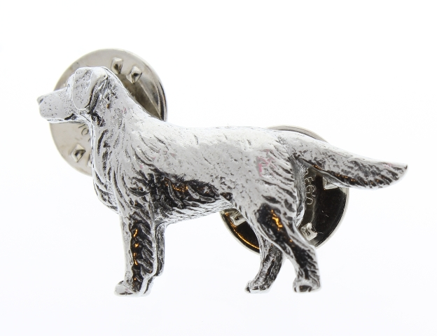 A.E. Williams Fine Brittish Pewter Lapel Hat Pin Retreiver Pointer Dog #35222