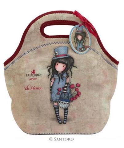 Santoro London Handbag Purse Neoprene Lunch Bag The Hatter
