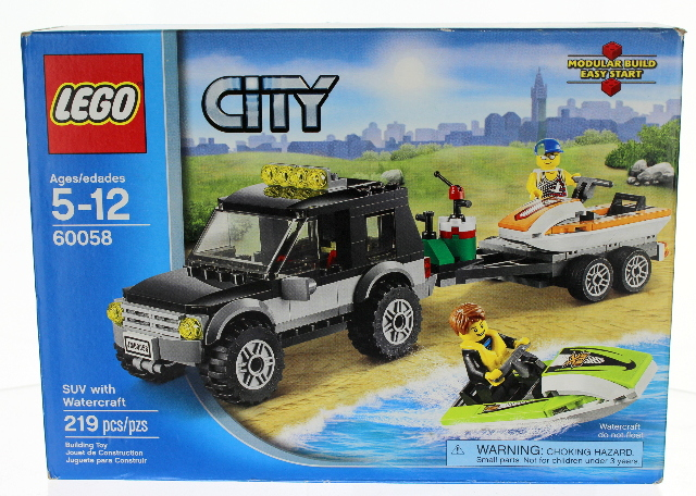 LEGO City 60058 SUV with Watercraft and trailer New in original Box