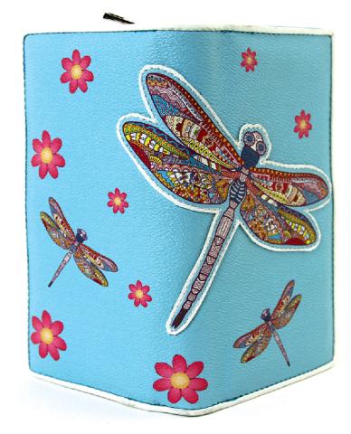Sleepyville Critters Dragonfly Wallet in Vinyl Material for Handbag Purse