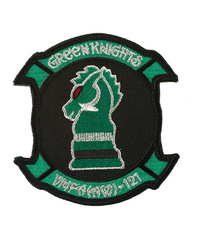 "VMFA (AW) -121 Green Knights 3.75"" Uniform Patch with Hook and Loop backing"