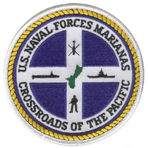US Naval Forces Marianas Crossroads of the Pacific Uniform Patch
