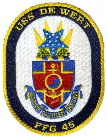 Uss De Wert FFG 45 Uniform Patch
