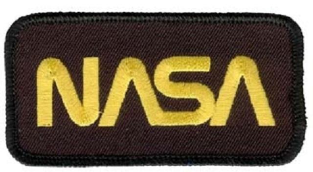 Nasa Logo Rectangle Gold and Black Uniform Patch