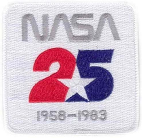 NASA 25 Year Anniversary 1958-1983 Uniform Patch