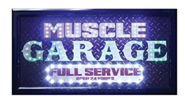 "Led Sign Store Display Shop Bar Pub Mart Sign Muscle Garage 10"" x 19"""