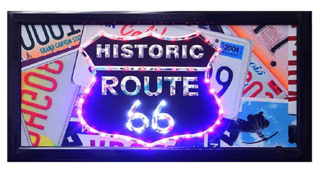 "Led Sign Store Display Shop Bar Pub Mart Sign Historic Route 66 10"" x 19"""