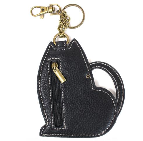 Chala Fat Cat Key Fob Key Ring Keychain Coin Change Purse Vegan New