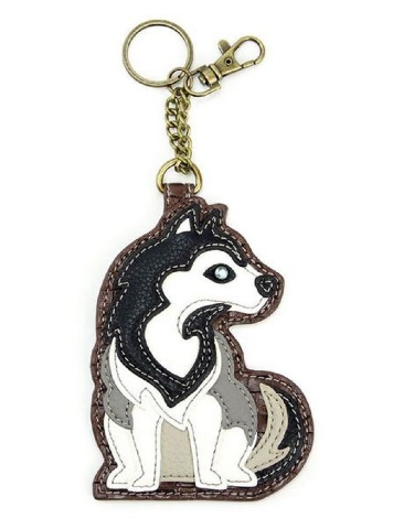 Chala Golden Retriever Puppy Dog Key Chain Coin Purse Leather Bag Fob Charm New
