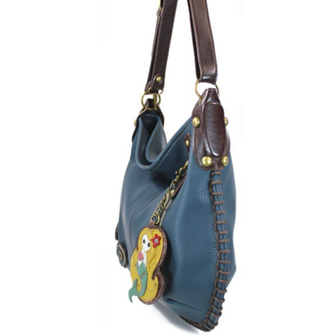 bb648f6334 Chala Purse Handbag Leather Hobo Cross Body Convertible Mermaid Blue ...