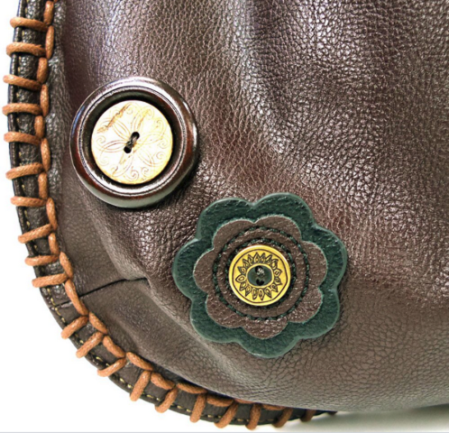 5a9b2a4322 Chala Purse Handbag Hobo Cross Body Convertible Chocolate Fat Cat ...