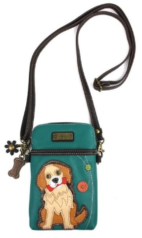 308be5c613 Charming Chala Puppy Dog Golden Retriever Phone Purse Mini Crossbody Bag