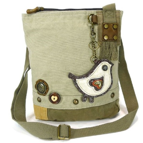 Chala Purse Handbag Canvas Crossbody with Key Chain Tote Bag Biddle Bird  064964b882150