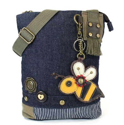 845464279 Chala Purse Handbag Denim Canvas Crossbody With Key Chain Tote Bag Bumble  Bee | Dragonfly Whispers