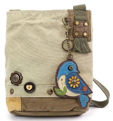 Chala Purse Handbag Canvas Crossbody with Key Chain Tote Bag Biddle Blue  Bird  57b151a6d9be0