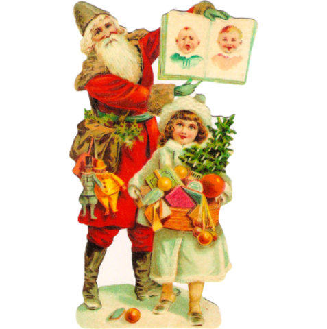 Vintage Style Santa St Nick and Child Greeting Card And Envelope from Shackman