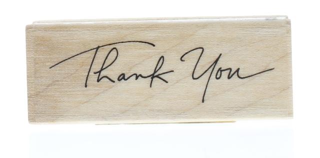 Inkadinkado thank you greeting writing words wooden rubber stamp ebay inkadinkado thank you greeting writing words wooden rubber stamp m4hsunfo