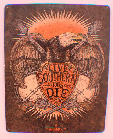 Live Southern Or Die Trying Guns Eagle Funny Retro Metal Tin Sign New