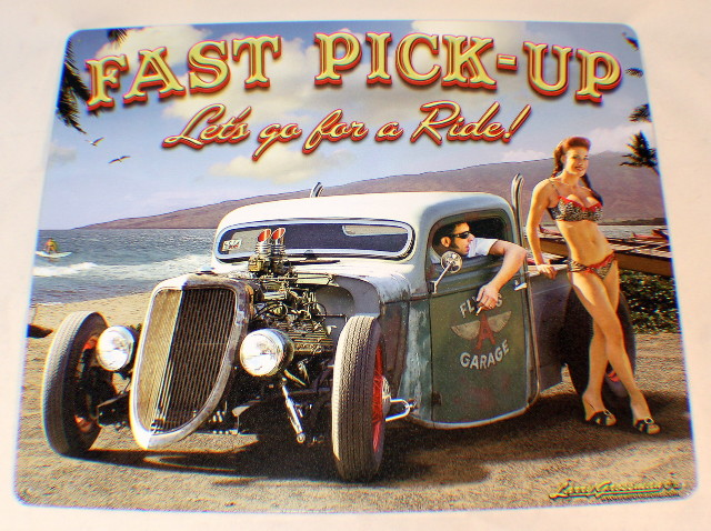 Fast Pick Up, Let'S Go For A Ride Vintage Funny Retro Metal Tin Sign New