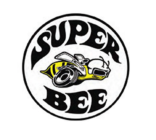 "Super Bee Dodge Charger Image 12"" Round Metal Sign Pub Game Room Bar Garage"