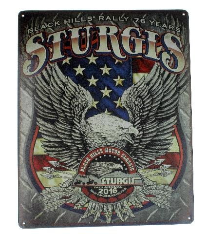 Sturgis Eagle Black Hills Motor Classics Metal Sign Pub Game Room Cave Bar