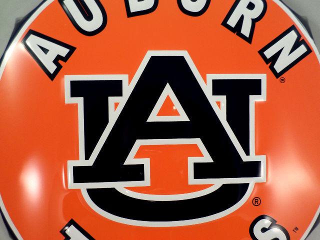 College Auburn Tigers Au Bottle Top Metal Sign 19 Diameter Made In