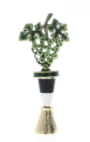Grape Cluster Rhinestone Bling Wine Bottle Topper Stopper