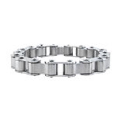 Inox Men'S Stainless Steel Motorcycle Chain Polished Finish Bracelet #Br1098