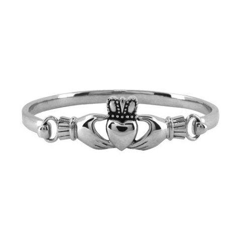 Women'S Inox Stainless Steel Claddagh Hearts Bangle Bracelet