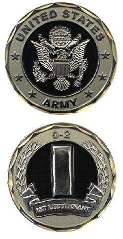 United States Army 1ST LT 0-2 Military Challenge Coin