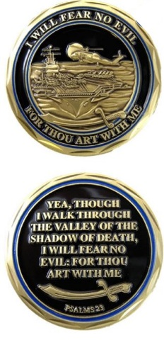 United States Military Challenge Coin Soldier's Sailor Navy Psalm Protection Prayer