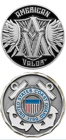 United States American Valor Coast Guard Military Challenge Coin