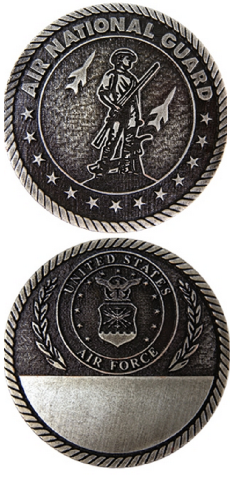 United States Air National Guard Military Challenge Coin