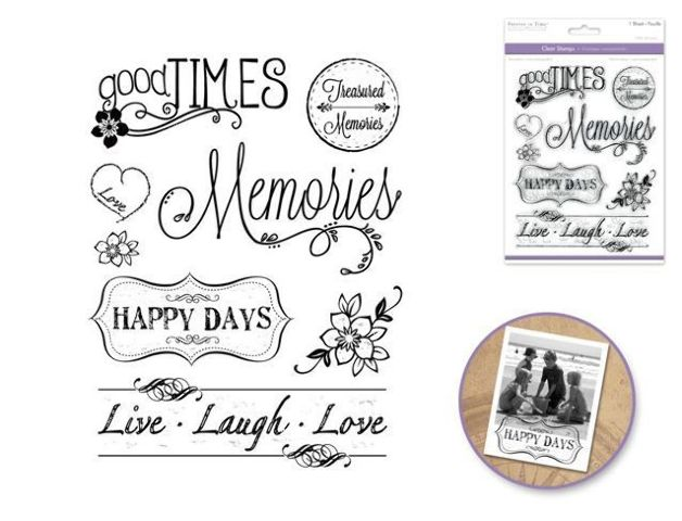 Forever in Time Clear Cling Rubber Stamp Making Memories ...