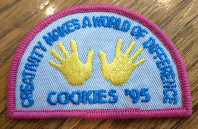 Girl Scout Gs Vintage Uniform Patch Creativity Makes A Wold Of Difference Cookie