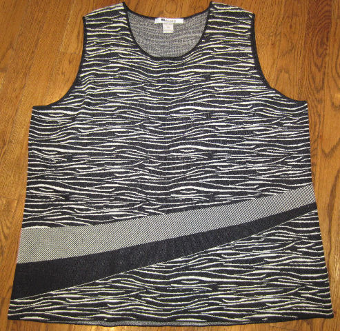 Nygard Woman Halley'S Comet Black White Shell Tank Sweater Sz 3X