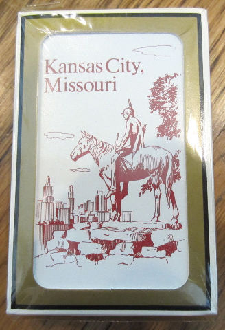 Kansas City Missouri Indian On A Horse Playing Deck Of Cards New Gemaco Bridge