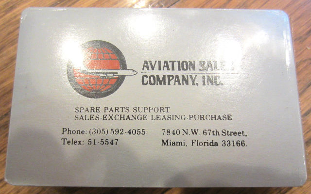 Air Plane Aviation Company Inc. Spare Parts Co. Playing Deck Of Cards