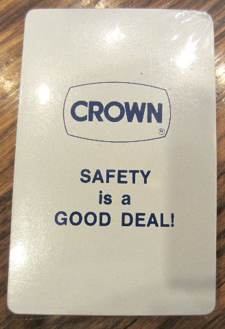 Crown Safety Is A Good Deal Playing Deck Of Cards