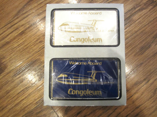Congoleum Corporation Welcome Aboard Airplane Aircraft Playing Deck Of Cards