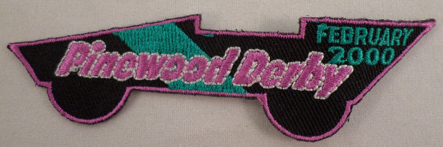 Girl Scout Patch Pinewood Derby February 2000 Car Race #Gspk