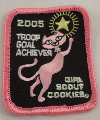 Girl Scout Patch Troop Goal Achiever 2005 Siamese Kitten Cat Gs. Cookies #Gspk