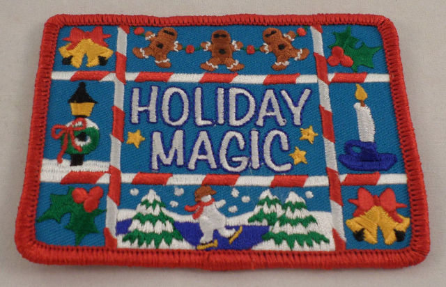 Girl Scout Patch Holiday Magic Uniform Patch Gs #Gsrd