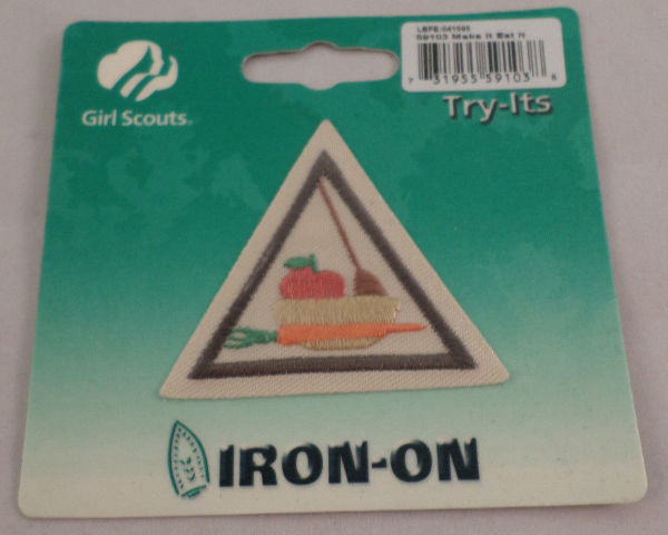 Girl Scout Patch Make It Eat It Try-Its New Uniform Patch Gs