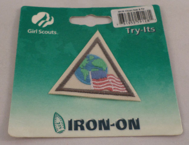 Girl Scout Patch Citizen Near And Far Try-Its New Uniform Patch Gs